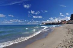 Cefalu, Sicilian town on the Mediterranean shore Stock Photos