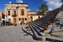 Cefalu, Sicily, Italy. Main town square Royalty Free Stock Images