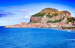 Cefalu, Ligurian Sea, Italy, Sicily Stock Image