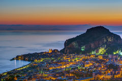 Cefalu in Sicily before sunrise Royalty Free Stock Image