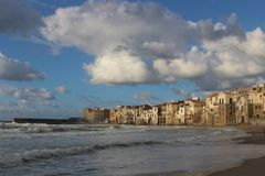 Cefalu in Sicily Stock Image