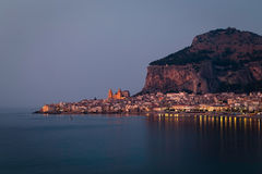 Cefalu. small historic town in the Sicily Stock Photos