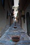 Cefalu Straße Stockbild