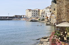 Cefalu Town And Ocean Royalty Free Stock Images