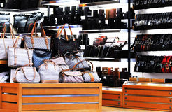 Cefiro handbag store Royalty Free Stock Image
