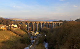 Cefn Coed Viaduct Merthyr Tydfil. Cefn Coed viaduct was built to join Breacon with Merthyr Tydfil royalty free stock photography