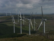 Cefn Croes Windfarm från garn för penna y Arkivfoto
