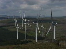 Cefn Croes Windfarm from Pen y garn Stock Photo