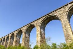 Cefn Mawr-Eisenbahnviadukt stockbild
