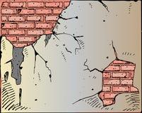 cegła łamająca wektoru ściana ilustracja wektor