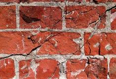 cegła pękająca ściana Fotografia Royalty Free