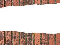 Cegła pomarańczowego koloru nieociosany tło z kopii przestrzenią zdjęcia stock