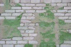 cegła Tekstury i bielu kamienny tło Pęknięcia i narysy brudni, fotografia stock