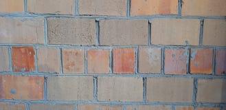 cegła wyginająca się ściana obraz stock