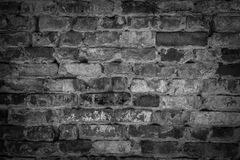 cegły ściana domowa stara czarny white twój tekst Zdjęcia Royalty Free