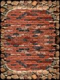 cegły ściana ramowa kamienna zdjęcia stock