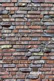cegły ściana zamknięta Dekoracyjny kamieniarstwo używać krzywę, standard cegły tło wizerunku rastre ceglana ściana Pionowo orient obraz royalty free