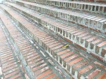 Cegły blokowa tekstura ściana, drabina, podłoga Zdjęcia Stock