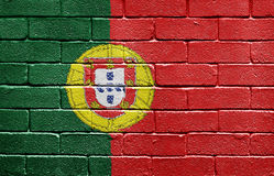 cegły chorągwiana Portugal ściana Obraz Royalty Free