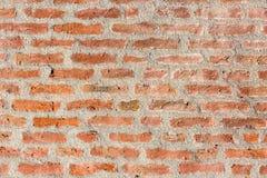 Cegły i cementu wzór w ścianie z cegieł obrazy royalty free