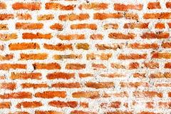 Cegły i cementu wzór w grunge ścianie z cegieł zdjęcie stock