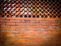 Cegły ogrodzenia ściany wzór Zdjęcie Royalty Free