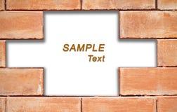 cegły ramowy grunge przestrzeni teksta ściany biel Obrazy Royalty Free