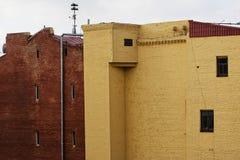 cegły target430_1_ fasadową starą czerwień Obraz Royalty Free