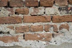 Cegły w ścianie stary rujnujący budynek Fotografia Stock