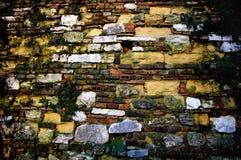 cegły zamknięta rocznika ściana Obrazy Royalty Free