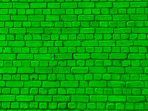 cegły zieleni ściana Obrazy Royalty Free