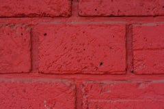cegła biel odosobniony czerwony Zdjęcia Royalty Free