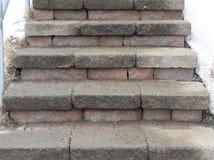 Cegły i kamienia schodki Fotografia Stock