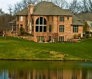 cegły kursu golfa domu luksus Obrazy Royalty Free