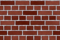 ceglana ściana czerwieni zewnętrzna Zdjęcia Royalty Free