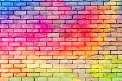 ceglana ściana kolorowa zdjęcia stock