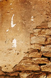 ceglana ściana konkretną Obrazy Stock