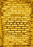 ceglana ściana złota Obraz Stock