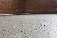 ceglana betonowa ściana Obrazy Royalty Free