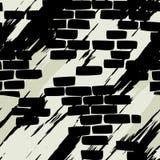 ceglana bezszwowa ściana royalty ilustracja