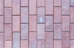 Ceglana bruk płytka, odgórny widok jako tło tekstura Obrazy Stock