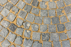 Ceglana bruk płytka, odgórny widok jako tło tekstura Fotografia Stock