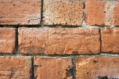 ceglana ściana stara czerwieni Obrazy Royalty Free