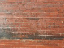 ceglana ściana stara czerwieni Obraz Royalty Free