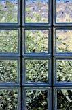 ceglana ściana szklana fotografia stock