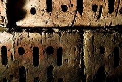 ceglana ściana tekstury crunch Zdjęcia Stock