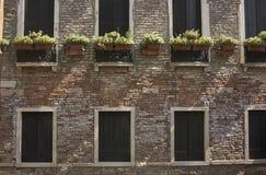 Ceglana fasada i okno Obraz Royalty Free