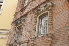 Ceglana fasada stary nieuczesany w Istanbuł Turcja Obrazy Stock