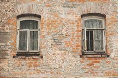 Ceglana fasada stary nieuczesany w Istanbuł Turcja Zdjęcie Stock