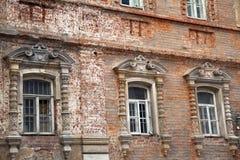 Ceglana fasada stary nieuczesany w Istanbuł Turcja Fotografia Royalty Free